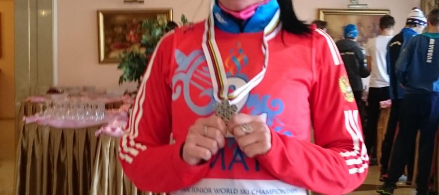 Яна Кирпиченко – серебряный призёр юниорского первенства мира в эстафетной гонке.