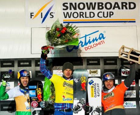 Андрей Соболев выиграл итальянский этап Кубка мира в параллельном слаломе и возглавил общий зачёт.