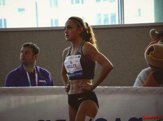 Полина Миллер завоевала серебряную медаль чемпионата России в помещении на дистанции 400 метров