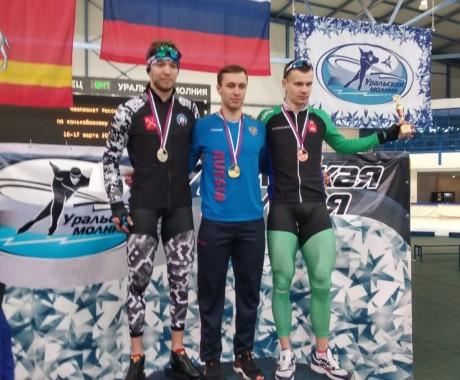 Виктор Муштаков — чемпион России в спринтерском многоборье