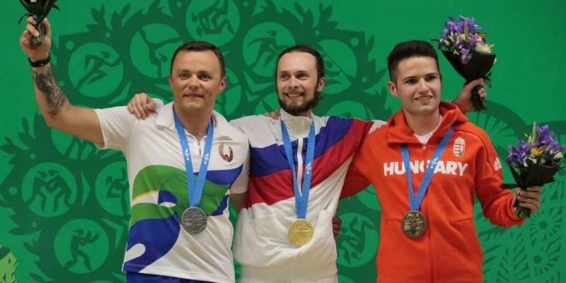 Сергей Каменский выиграл вторую золотую медаль по пулевой стрельбе на Европейских играх в Минске