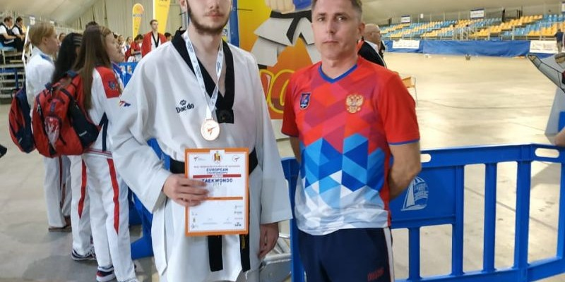 Алексей Каратаев — бронзовый призёр юниорского первенства Европы по тхэквондо ВТФ