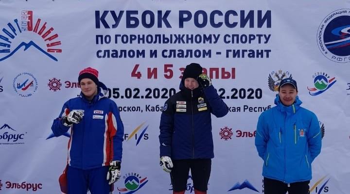 Олег Жудин — серебряный призер этапа Кубка России в слаломе