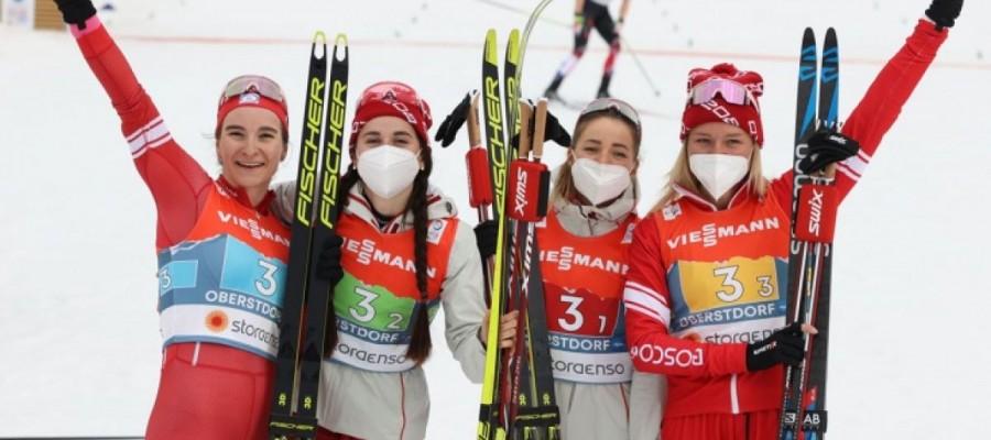 Яна Кирпиченко — серебряный призёр чемпионата мира в женской эстафете