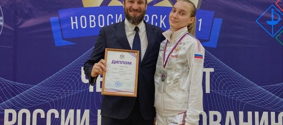 Саблистка Анна Смирнова завоевала серебряную медаль чемпионата России