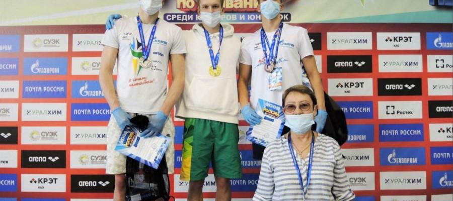 Никита Черноусов — серебряный призёр первенства России в плавании вольным стилем среди юниоров до 18 лет