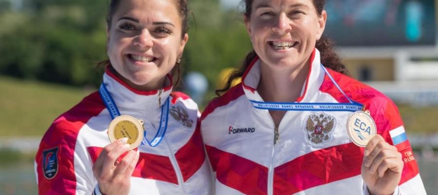 Ирина Андреева в паре с Олесей Ромасенко — чемпионки Европы в каноэ двойке