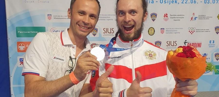 Сергей Каменский в третий раз поднялся на пьедестал Кубка мира