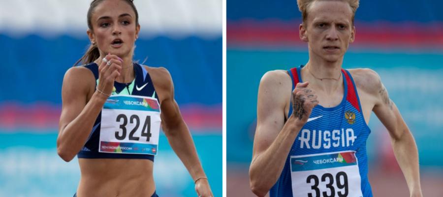 Полина Миллер и Савелий Савлуков стали победителями в беге на 400 м на Кубке России в Брянске