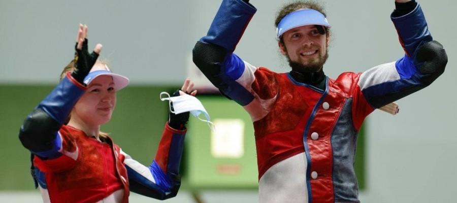 Бийчанин Сергей Каменский выиграл бронзу Олимпиады в стрельбе из пневматической винтовки в миксте!