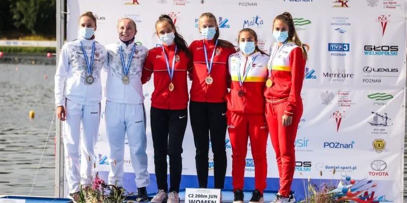 Представительница КАУ «ЦСП» София Штиль завоевала серебро первенства Европы среди юниоров в каноэ-двойке