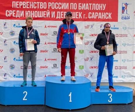 Леонид Кульгускин из Бийского района победил в кросс-спринте на юношеском первенстве России